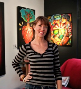 Jennifer Main's art is now on display inside the Art Encounter