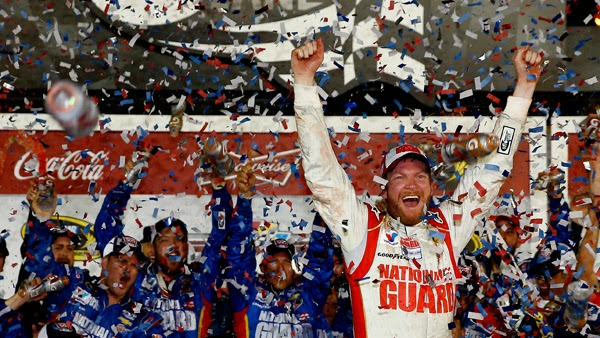 Dale Earnhardt Jr. Winning Daytona 500