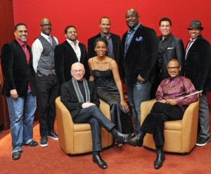 Producer Larry Rosen with Take 6, Clint Holmes, Kirk and Nnenna