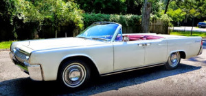 Lincoln Continental used to transport the Kennedys to their final flight to Dallas