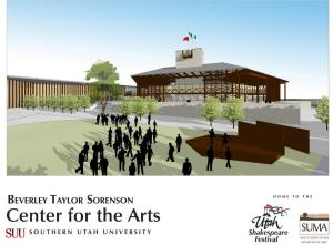 Beverley Taylor Sorenson Center for the Arts Outdoor Theatre Rendering