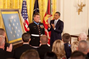 Sgt. Dakota Meyer receiving Medal of Honor,
