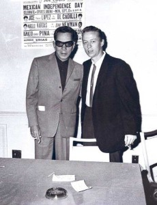 Cantinflas and Norm Johnson in Mexico City for Sept. 1962 Fight in Los Angeles