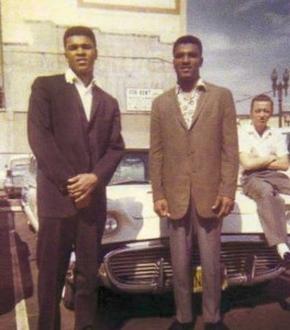 Muhammad Ali (photo when he was Cassius Clay), His brother Rahaman