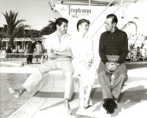 Eddie Fisher, Debbie Reynolds and Eddie Cantor at the Tropicana