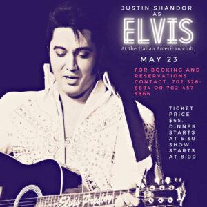 Justin Shandor at the Italian American Club May 23rd